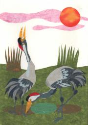 Twee kraanvogels © Céline Leopold