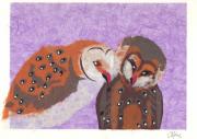 Twee verliefde uilen © Céline Leopold