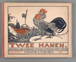 Prentenboek getiteld Twee hanen