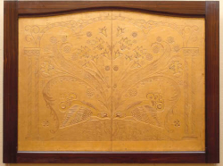 Wandpaneel met decor van korhoenders
