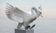 Landende zwaan © Evert den Hartog