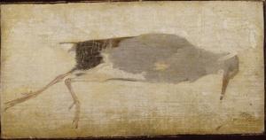 Dood vogeltje met Judaspenning, Jan Mankes, 1910