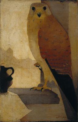 Torenvalk, olieverf op doek, 19 x 12,5 cm, Jan Mankes, 1910