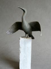 Richard van der Koppel | Aalscholver-1 | 19cm | brons | 250