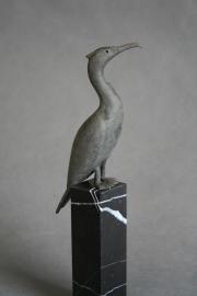 Richard van der Koppel | Aalscholver-2 | 16cm | brons | 250