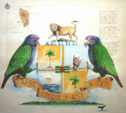 Dominica's Coat of Arms © Rolf Weijburg