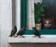 Drie spreeuwen © Ton van Steenbergen