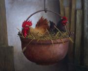 Haan en kip © Ton van Steenbergen