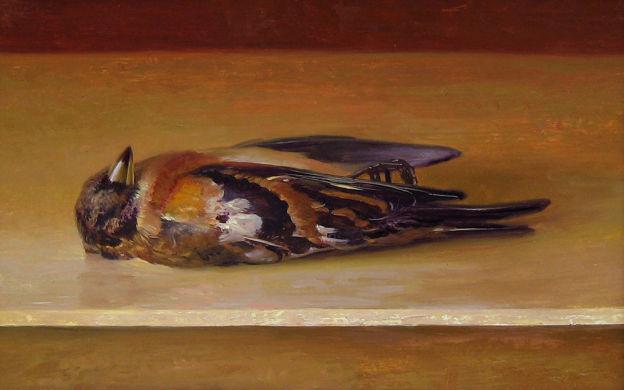Keep, olieverf op paneel, 16 x 22 cm, Rutger Hiemstra